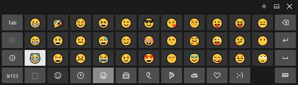Click the desired emoji character