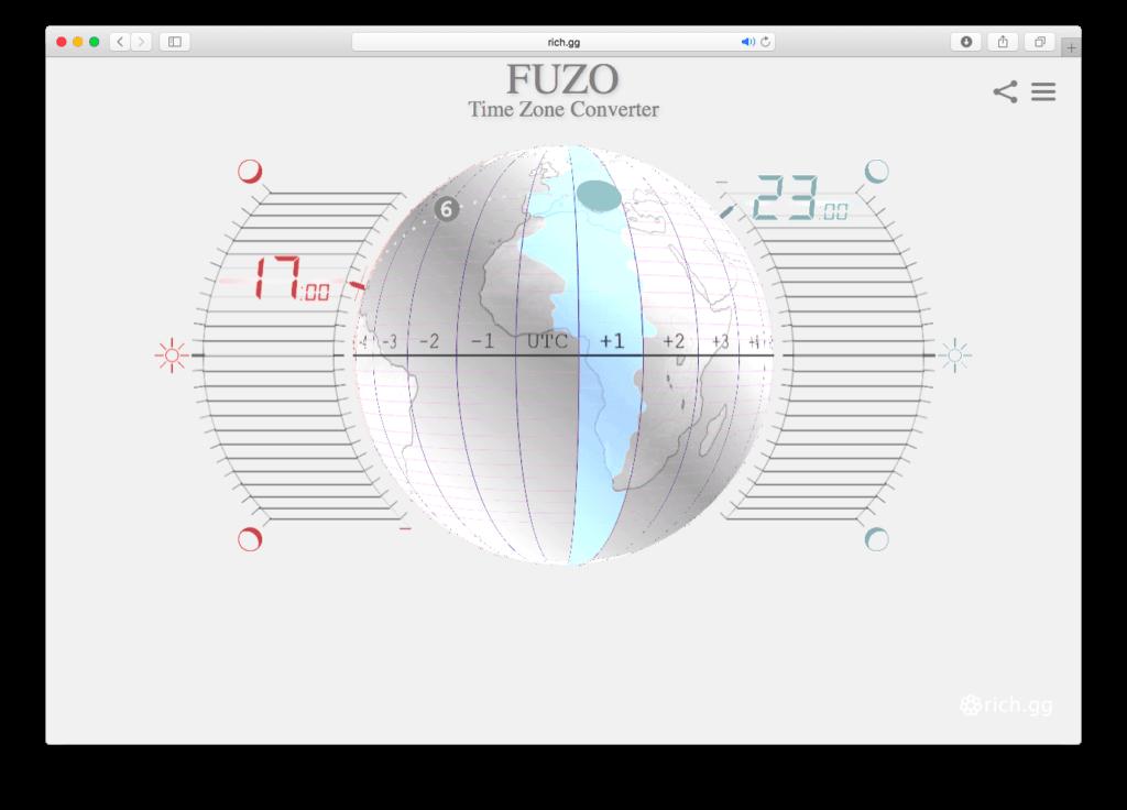 FUZO Time Zone Converter