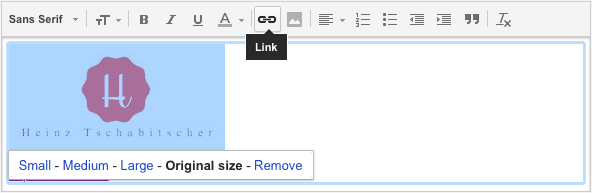 How to add a gmail signature image la de du highlight the image with the mouse or keyboard colourmoves