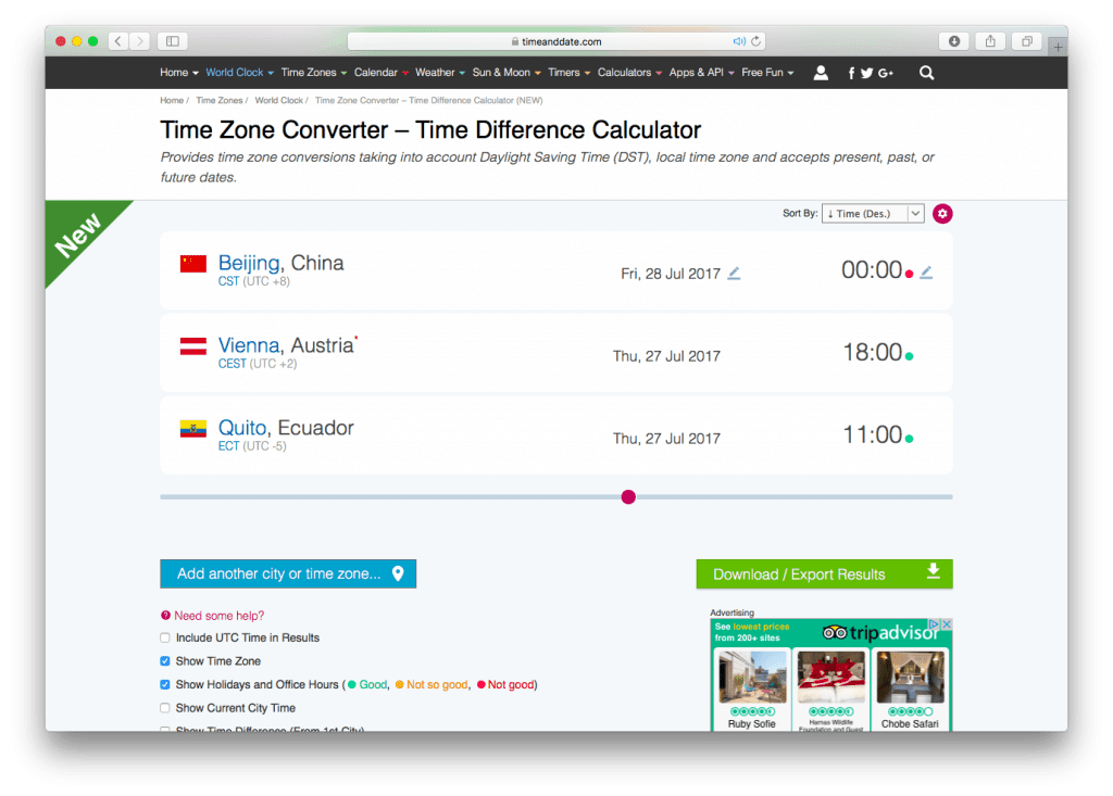 Timeanddate.com Time Zone Converter. Time and Date AS