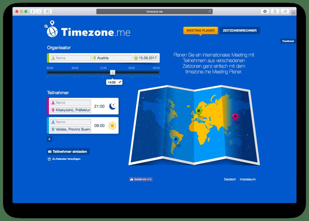 Timezone.me Meeting Planer
