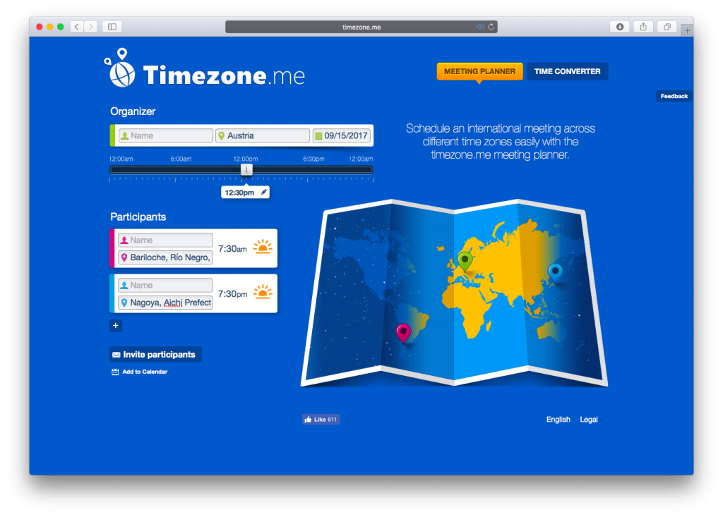 Timezone.me Meeting Planner. TeamViewer GmbH