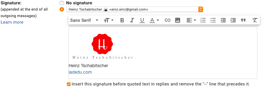 Type the text of your signature in the Signature: text field