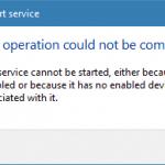 Do you get an error message?
