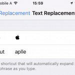 "Enter a shortcut that will be replaced with the Apple symbol under ""Shortcut"""