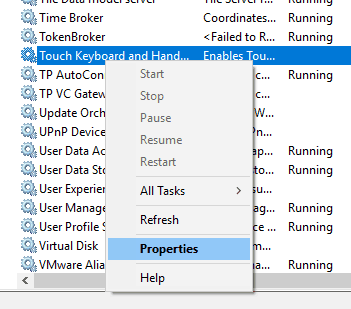 """Select""""Properties"""" from the menu"""
