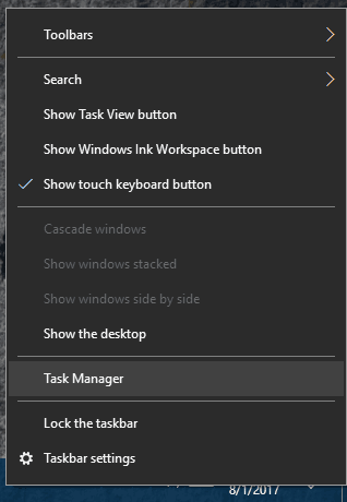 """Select""""Task Manager"""""""
