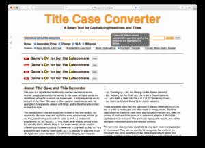 Title Case Converter