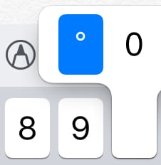 Degree Symbol on iPhone Keyboard thumbnail