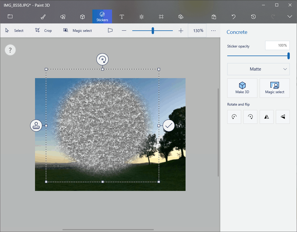 Click the image to add a texture object